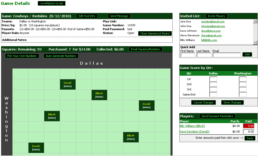 Football Pool - Play Football Squares Online