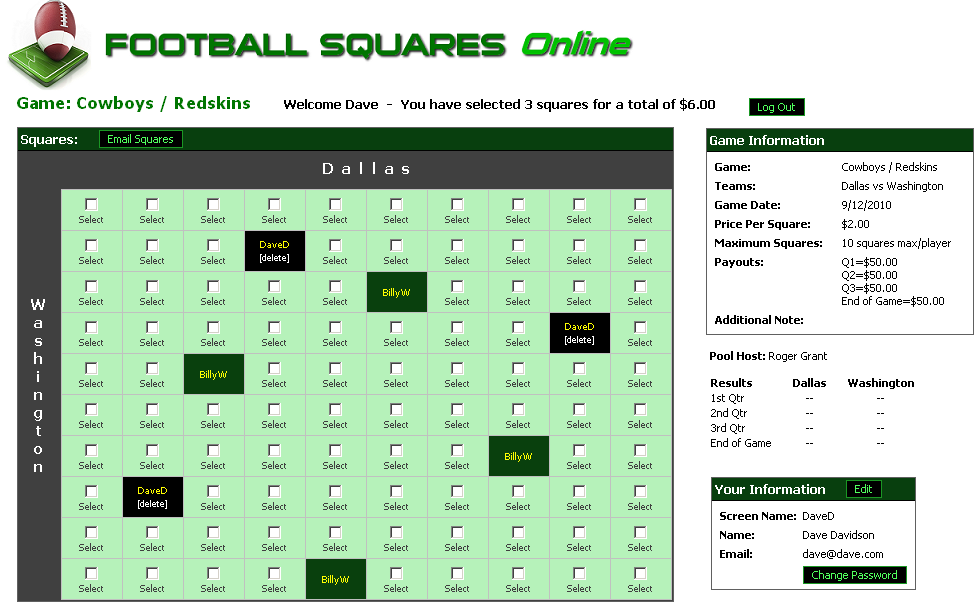Football pool play football squares online game board pronofoot35fo Choice Image